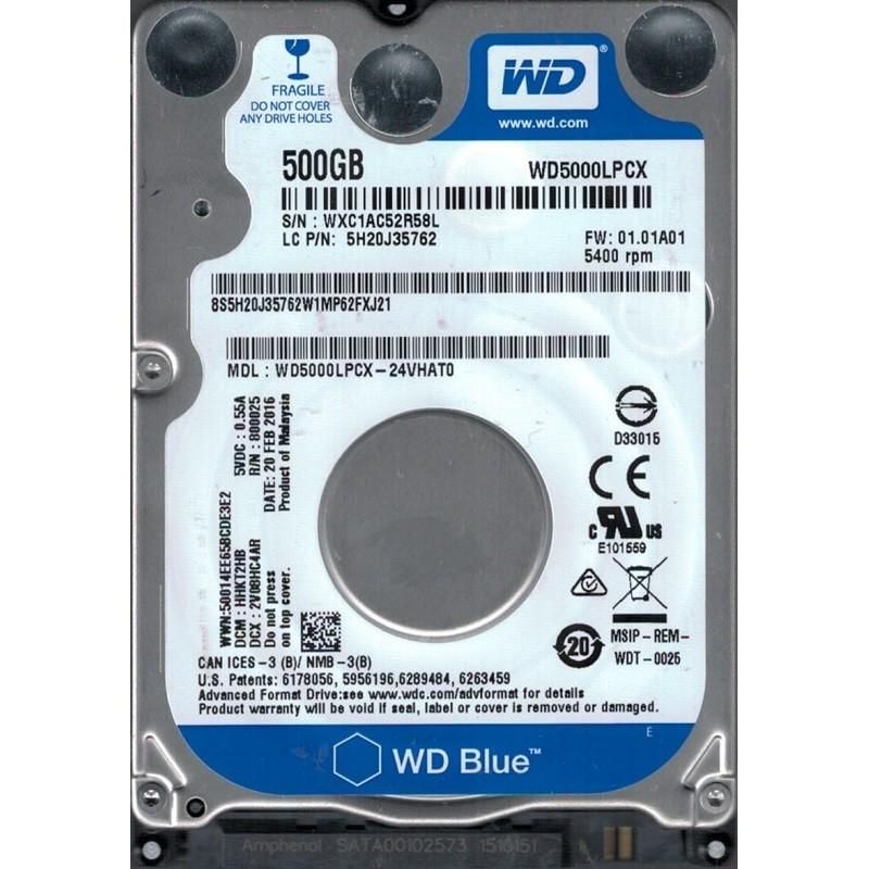 Disque Dur 500g Sata 2 5 Western Digital
